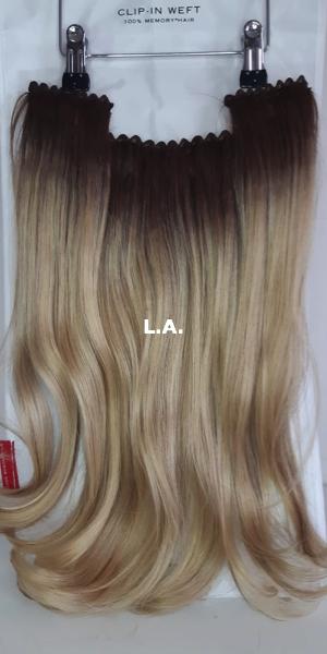 Balmain hair Clip-in Weft MH L.A. voorzijde
