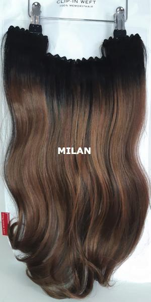 Balmain hair Clip-in Weft MH MILAN voorzijde