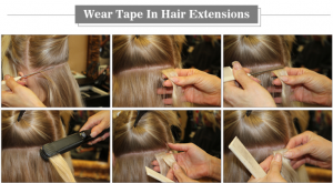 How to wear tape Extensions