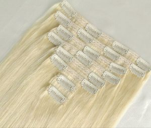 bighair clip-in hairextensions blond