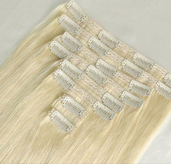 bighair clip-in hairextensions blond