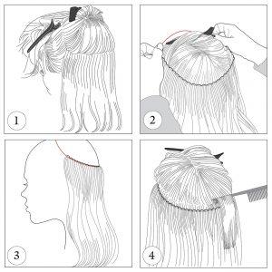 Balmain HairDress inzet tekening - Hairextensionsvoordeel.nl