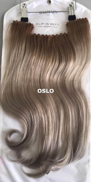 Balmain hair Clip-in Weft MH OSLO voorzijde